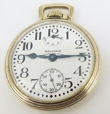 .1910 Waltham Vanguard Up Down 16s 23 Jewel Gold Filled OF Pocket Watch