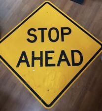 "Large 36"" X 36"" STOP AHEAD Metal Street Road Sign Bar Man Cave Decor"