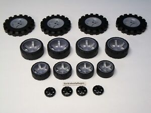 "KNEX WHEELS LOT Small Medium Large Tires 1.75, 2.5, 3.5"" Mixed Bulk Parts/Pieces"