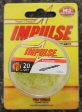NEW 5 PACKS Northland Fishing Tapeworm IMPULSE Baits Glow Chartreuse 100 BAITS!!