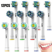12Pcs Electric Toothbrush Head Replacement for Braun Oral B Bitality Triumph /AU