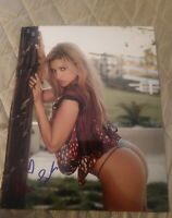 MONICA LEIGH SIGNED 8X10 PHOTO PLAYBOY MODEL SEXY POSE W/COA+PROOF RARE WOW