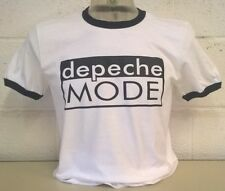 Depeche Mode Blanco/negro timbre Camiseta