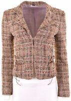 MAX & CO. Womens Blazer Jacket UK 8 Small Brown Wool  NB12