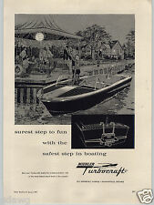 1962 PAPER AD Buehler Turbocraft Motor Boat Thurston Sails Sailboat