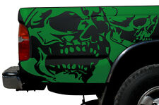 Vinyl Graphics Decal Wrap Kit for 1995-2004 Toyota Tacoma TRD Double Skull GREEN