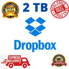 2TB Dropbox Premium Account - Lifetime ✔️ Custom Email ⭐  Instant delivery ✔️