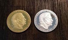 2 German Karl Goetz Hindenburg Silver Gold Reichsmark coins medal medallion 1927