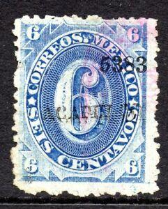 Mexico 1882 Foreign Mail Small Numeral 6¢Blue Acapulco VFU MX125
