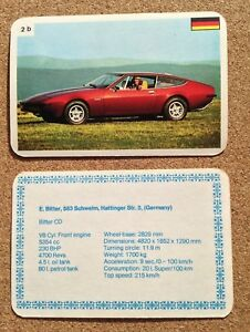 Top Trumps Single Card World Class Sports Cars Dubreq - Various Models (FB3)