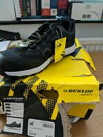Dunlop safety trainers Size 8 Black Box Damaged