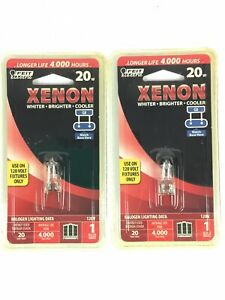 Feit Electric 20w Xenon G8 Flood Reflector Bulb Lot of 2 Pks ~FAST~FREE~SHIPPING