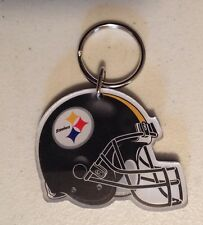 PITTSBURGH STEELERS HELMET ACRYLIC KEY RING CHAIN NFL LICENSED STOCKING STUFFER