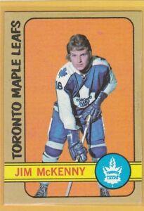 1972-73 TOPPS HOCKEY JIM MCKENNY #54 MAPLE LEAFS VG/VGEX *76381