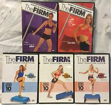 5 The Firm Box workout exercise fitness DVD lot express cardio abs thighs step