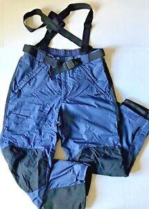 COLUMBIA Men's XL Blue Black Ski Bib Suspender Pants Excellent