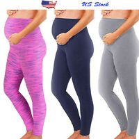 Women Mom Maternity Leggings Pants Stretch Pregnancy Long Trousers Solid Clothes
