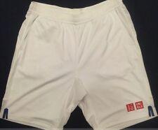 UNIQLO x Kei Nishikori 2017 Australian Open DRY Shorts S WHITE w/ BLU Tennis NWT