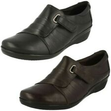 "Ladies Clarks Low Wedge Smart Shoes ""Everlay Luna"""