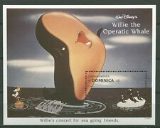 Walt Disney, Willie the Operatic Whale, Wal - Dominica - Bl.253 ** MNH 1993