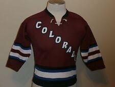 COLORADO AVALANCHE #21 FORSBERG BURGUNDY CCM NHL JERSEY REGULAR SEASON BOYS S/M