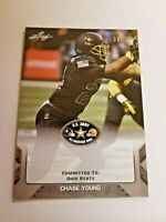 CHASE YOUNG OHIO STATE 2017 Leaf Army AA Football RARE SILVER #d/ 25  Rookie Gem