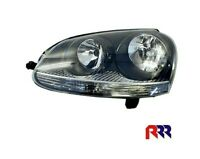 FOR VOLKSWAGEN GOLF MK5 (V) 04-08 HEADLIGHT, BLACK HOUSING- LEFT PASSENGER SIDE