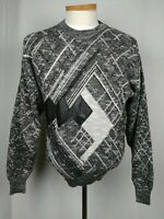 Colore Italia Mens Sweater Black White Gray Vintage Chick Magnet Size Large