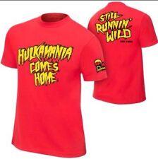WWE WWF Hulk Hogan Mens Hulkamania Comes Home Authentic T-shirt New Size XL