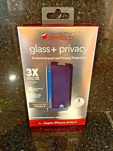 ZAGG InvisibleShield Glass + Privacy Screen Protector iPhone 6 / 6s / 7  - MIB