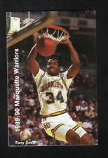 Marquette Warriors--Tony Smith--1989-90 Basketball Pocket Schedule--WISN