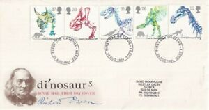20 AUGUST 1991 DINOSAURS ROYAL MAIL FIRST DAY COVER LEEDS FDI