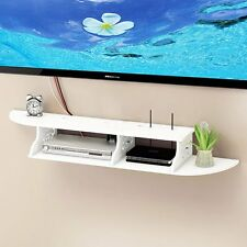 Hollow Carved 2 Tier Floating Wall Shelve for TV CD DVD Bookcase Storage Unit UK
