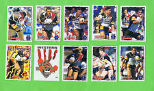 1995 SERIES 2 RUGBY LEAGUE CARDS - PERTH WESTERN REDS
