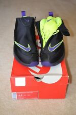 EUC Mens Nike Air Zoom Flight THE GLOVE Black Purple Volt 616772-003 Gary Payton