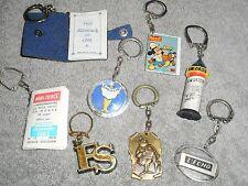 lot de 8 Porte clefs 1965 PUB  thème : la presse et l'édition