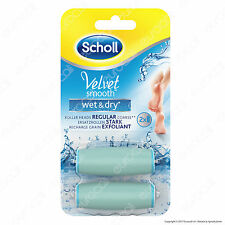 2 Testine di Ricambio per Scholl Velvet Soft Smooth Wet & Dry Roll Pedicure