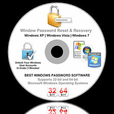 Windows Password Reset Recovery Removal - Boot CD Unlock XP Vista 7