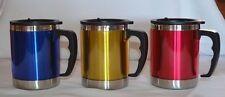 2 x Stainless Steel Coffee Travel Mug Water Tea Cup 14Oz Handle TMC04