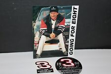 DALE EARNHARDT SR. GOING FOR EIGHT PICTURE PHOTO CARD with TWO STICKERS