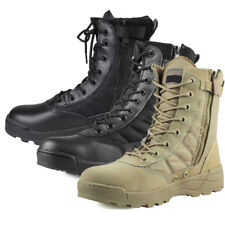 AU Men's Leather Military Tactical Deployment Boot SWAT Boots Duty Work Shoes