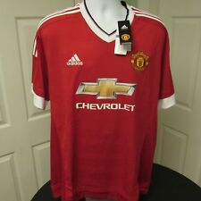 2015-2016 Manchester United Home Shirt, Adidas, Soccer Jersey, 2XL BNWT, EPL
