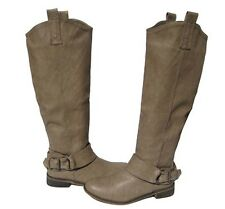 New Women's Knee High Beige Nude Riding Boots winter snow Ladies size 9