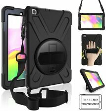 Hand Shoulder Strap Heavy Duty Shockproof Case for Samsung Galaxy Tab A 8 2019