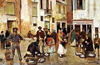 Campiello delle Mosche, Venice by Franz Ruben. Canvas Life Art. 11x17 Print