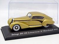 Ixo Presse 1/43 - Delage D8 120 Letourneur et Marchand 1939