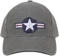 Olive Drab Vintage US Air Corp Logo Adjustable Hat