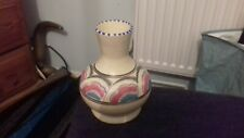 More details for honiton pottery bud vase c1950's eastern scroll, bitton shape size h4