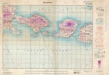 1945 British Army Map of Bali, Lombok, and Environs, Indonesia