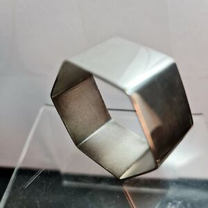 Antique Australian  Sterling Silver APEX Napkin Hexagonal Serviette Ring 30g VGC